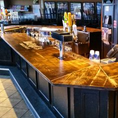 Mchughs Bar Project #bartop #brandreserveinc #restaurant #oak #woodworking