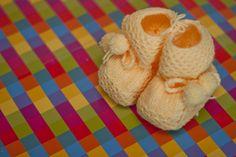 Baby Wool Boots - Yellow  https://www.facebook.com/flocosdela