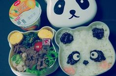 #kawaiifood #kawaii #food #cute #pastel #bento #panda