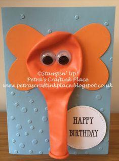 Birthday ideas for kids toddlers boys fun 64 super Ideas Simple Birthday Cards, Homemade Birthday Cards, Birthday Cards For Boys, Homemade Cards, Birthday Ideas, 60th Birthday Cards, Boy Cards, Kids Cards, Elephant Balloon