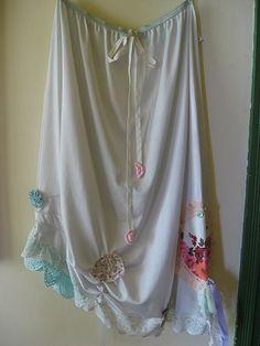 Romantic recycled Vintage Slip Skirt | Flickr - Photo Sharing!