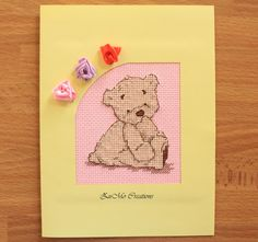 Lickle Ted   cross stitch card