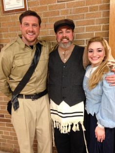 Constable, Papa, and Hodel. #hodel #fiddlerontheroof