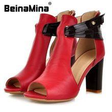 347d4f137 Frete grátis salto alto de couro genuíno sandálias mulheres sexy sapatos  femininos moda senhora R233 venda
