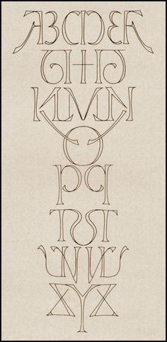 Mirror alphabet inversion {ambigram} by Scott Kim