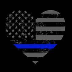 Police and Law Enforcement Thin Blue Line Heart Valentines Heart