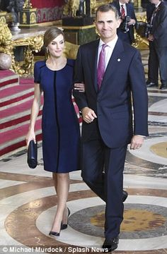 'Commoner': Spain's King Felipe VI with his wife Queen Letizia. But Letizia was branded by Spain's former King Juan Carlos as 'the worst thing that happened to [the royal family] in many years' before she married Felipe