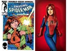 Mary Jane Watson in Spider-Man Costume Cosplay