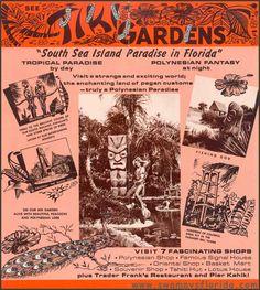 Swampy's Ads: Who remembers Tiki Gardens at Indian Rocks beach? Vintage Menu, Vintage Tiki, Vintage Florida, Tiki Toki, Tiki Hawaii, Indian Shores, Bamboo Bar, Indian Rocks Beach, Tiki Bar Decor