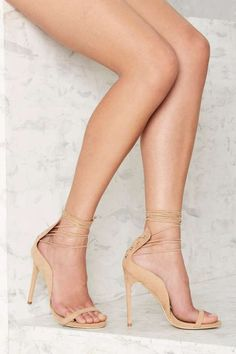 eafffeb817a Nasty Gal Easily Swayed Lace-Up Heel Lace Up Heels