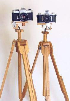 Home made wooden tripods