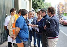 El subdirector general de Mobilitat, Obres Públiques i Transport, Josep Llin, visita Tavernes per conèixer els punts conflictius de la CV-50
