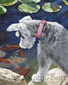 Koi Fascination by Kathy Britt. I have this at my house! It looks just like our dog!