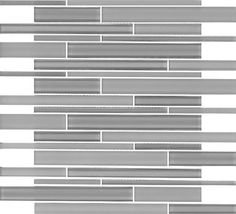 SAMPLE- Gray Random Subway Glass Mosaic Tile Kitchen Backsplash Bath sink Shower #Unbranded