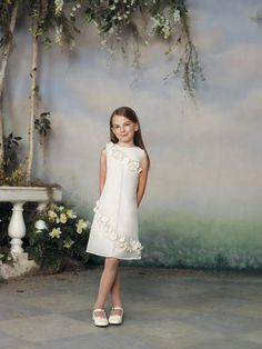 Casual A-line organza sleeveless flower girl dress