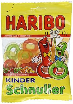 Haribo Kinder Schnuller (Pacifiers) Imported from Germany Not available in US-Stores oz A classic among the Haribo products! Particularly by the delicious, fruity flavors the Haribo Children Pacifier are enjoying ever more popularity. Haribo Candy, Mario Party Games, Gourmet Recipes, Dessert Recipes, Baby Doll Accessories, Pen Collection, Kids Room Wallpaper, Desktop Organization, Amazing Cakes