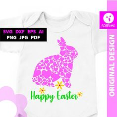Happy Easter SVG cut files vector print files clipart