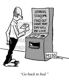 Stress cartoons can help to reduce stress and improve morale. Stress Funny, How To Handle Stress, Stress Symptoms, Scrooge Mcduck, Stressed Out, Reduce Stress, Stress Management, Sarcasm, Helpful Hints