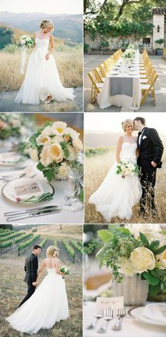 Details wedding dress and table