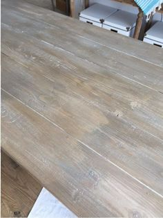 In my DIY Farmhouse Table and Bench post, I talked all about building my table from scratch. This post is all about how I got my DIY Weathered Wood… Paint Furniture, Furniture Plans, Furniture Making, Furniture Makeover, Gray Wash Furniture, Natural Wood Furniture, Furniture Design, Chair Makeover, Furniture Refinishing