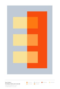 Josef Albers: color relationships > space illusion http://decdesignecasa.blogspot.it