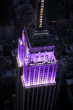 Purple Empire State Building