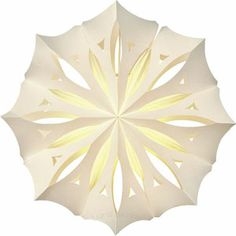 White Pizzelle Paper Lantern (anice design)  18.5 inches in diameter. Intricately cut, lacey and lovely paper lanterns. Truly exquisite and perfect for weddings, parties, and home decor!