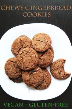 These chewy, spicy, vegan, gluten-free gingerbread cookies will make a great addition to your Christmas baking list.