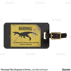 Warning! This Property is Protected by Raptors Travel Bag Tags