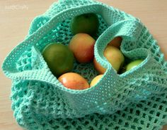 Ravelry: Crochet Mesh Grocery Tote Pattern pattern by Brittany Coughlin Bag Crochet, Crochet Market Bag, Crochet Shell Stitch, Crochet Diy, Crochet Handbags, Crochet Purses, Filet Crochet, Crochet Crafts, Crochet Projects