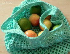Crochet Mesh Grocery Tote Pattern |Just B Crafty ✿⊱╮Teresa Restegui http://www.pinterest.com/teretegui/✿⊱╮