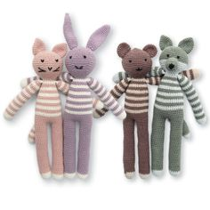 Ravelry: Friends forever pattern by FRAYA Knitting For Kids, Crochet For Kids, Crochet Toys, Baby Tights, Warm Sweaters, Knitting Accessories, Kit, Yarn Crafts, Friends Forever