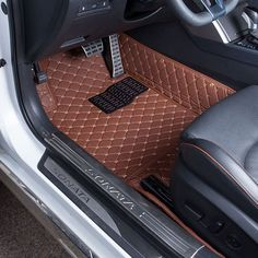 Car Floor Mats Covers top grade anti-scratch fire resistant durable waterproof leather mat For Honda Civic Car-Styling Rav4 Car, Custom Car Interior, Car Interior Design, Automotive Upholstery, Car Upholstery, Interior Accessories, Car Accessories, Sonata Car, Sport Cars