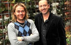 Shannon Bennett with Heide director and chief executive Jason Smith. Chief Executive, Chefs, Melbourne, Entertaining, Funny