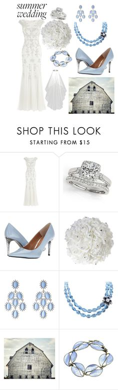 """""""Summer Wedding: Periwinkle Perfection"""" by leahmkb ❤ liked on Polyvore featuring Monsoon, Allurez, J.Reneé, Kenneth Jay Lane and Luise"""