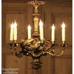 Antique Lighting | Antique Chandeliers | Louis XV Bronze Chandelier | www.inessa.com #antique #lighting