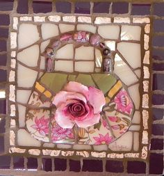 Small Purse by Anja Hertle ~  Maplestone Gallery  ~  Contemporary Mosaic Art