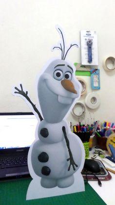 Display de Chão / Totem Olaf Frozen  http://www.elo7.com.br/display-de-chao-totem-olaf-frozen/dp/58F604#df=d&uso=d