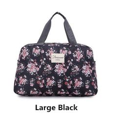 56e568cea3 2016 New Fashion Women s Travel Bags Luggage Handbag Floral Print Women  Travel Tote Bags Large Capacity
