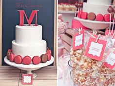M-themed dessert table