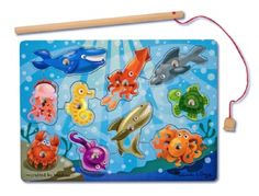 Magnetic Fishing Game Puzzle (10 pieces) at theBIGzoo.com, a family-owned toy store.