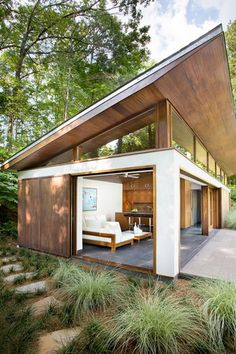 Architectural Angles Although the space is small, the modern architecture makes this home larger than life....