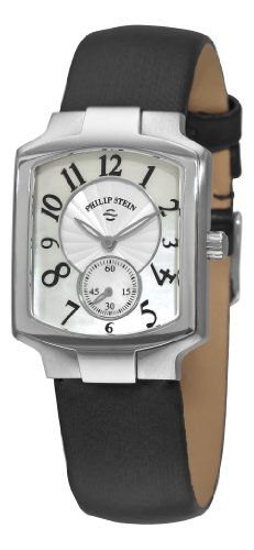 Women's Wrist Watches - Philip Stein Womens 21FMOPIB Classic Black Silk Strap Watch *** More info could be found at the image url. (This is an Amazon affiliate link)