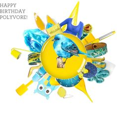 The blue bird of happiness 2015 Trends, Blue Bird, Color Trends, Happy Birthday, Happiness, Handmade Gifts, Polyvore, Design, Art