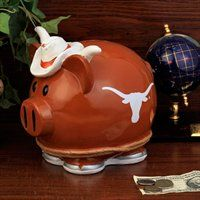 Texas Longhorns Large Resin Thematic Piggy Bank