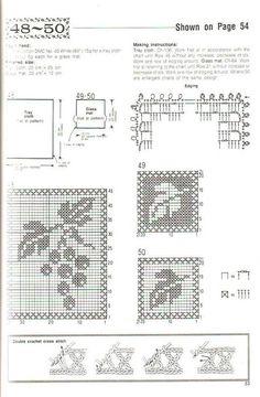 Комплект серветок Виноград гачок схема