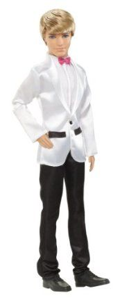 Barbie Groom Ken Doll New 2012 Version by Mattel. $12.91. Discover Barbie Fairytale Magic with Barbie Groom. Ken Groom Doll is dressed in his formal wedding tux and pink bow tie. Girls can play out their wedding-day dreams with this handsome groom. Makes to perfect gift any girl will love. Every princess dreams of the day she will marry her prince. From the Manufacturer                Barbie Groom Ken Doll – New 2012 Version: Discover Barbie Fairytale Magic with Barbie Gro...