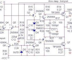 This is a 200W power amplifier circuit project. The