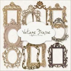 Free digital vintage frames