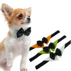 Dog Pet ajustável Bow Tie Tuxedo casamento Collar Fancy Dress gravata